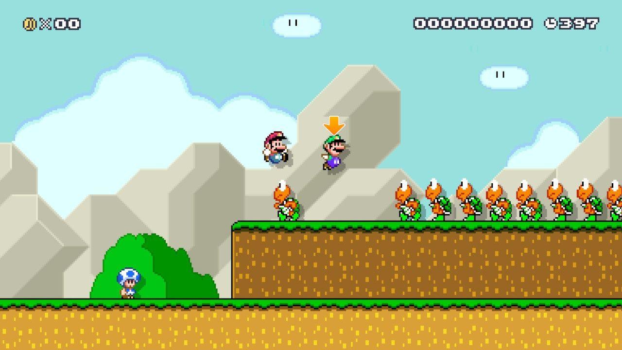 Mario and Luigi in Mario World