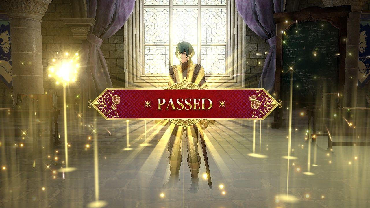 Fire Emblem passed exam