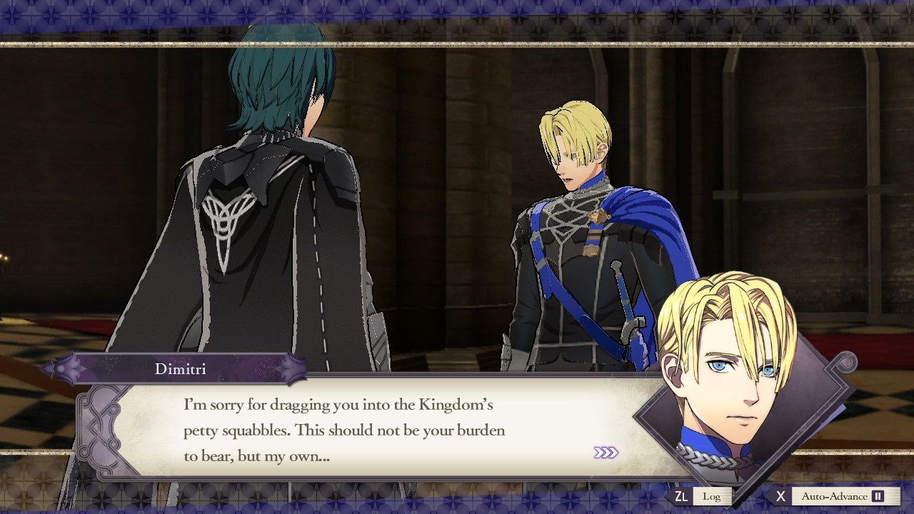 Fire Emblem talking with instructor