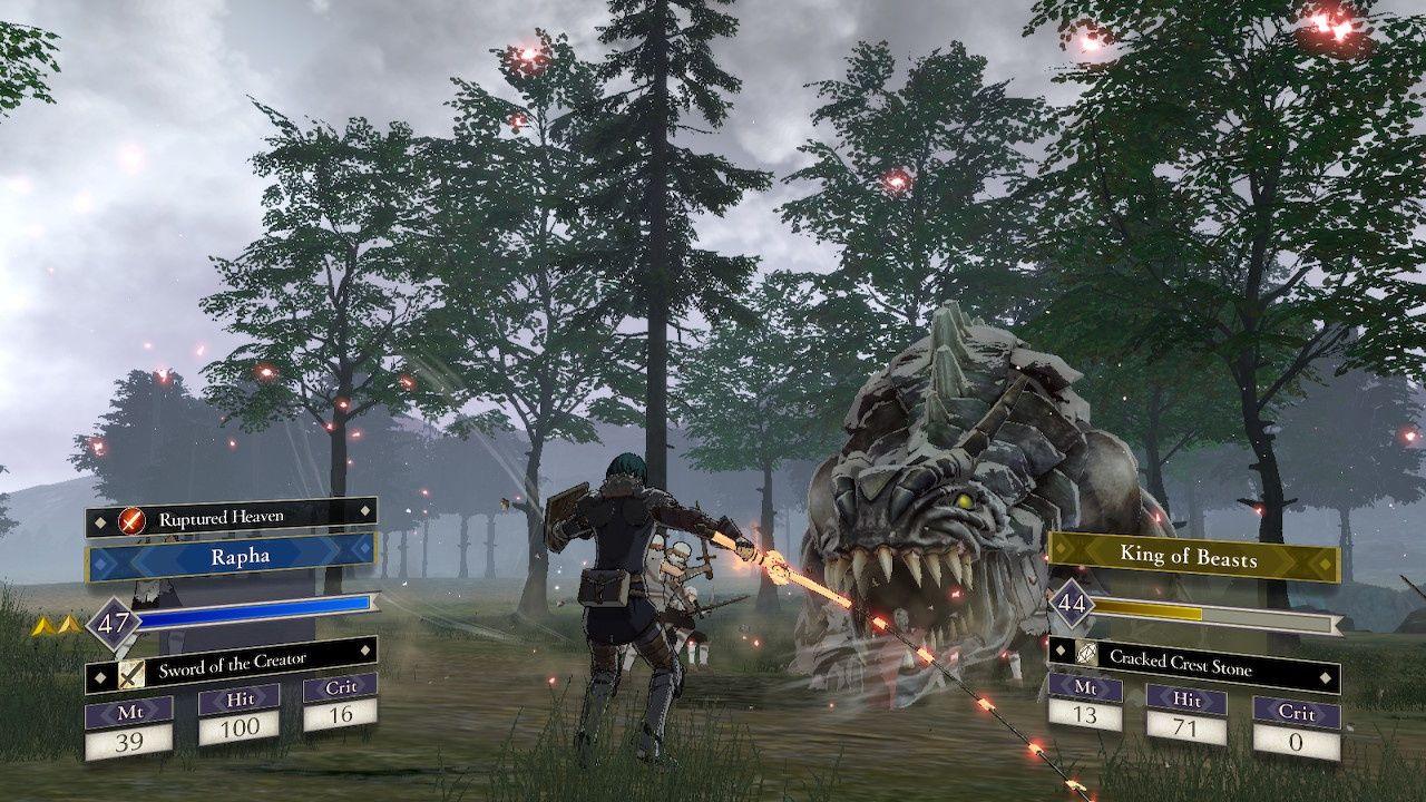 Fire Emblem fighting monster