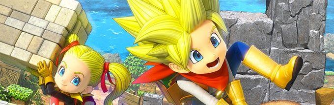 Dragon Quest Builders 2 huvudkaraktärer i logobilden
