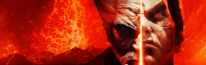 tekken 7 cover photo of kazuya and heihachi
