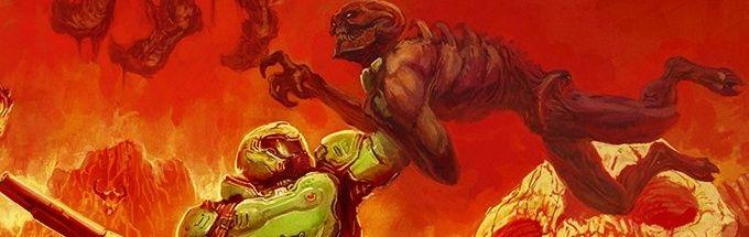 Doom guy in hell killing monster