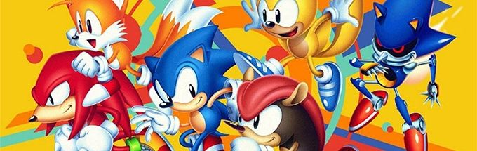Sonic and friends posing