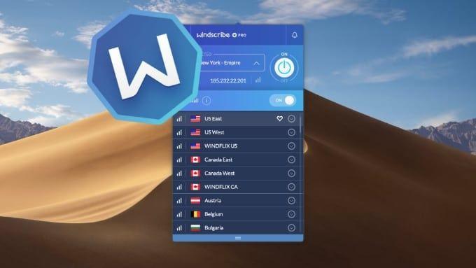 Windscribe test vpn för Mac