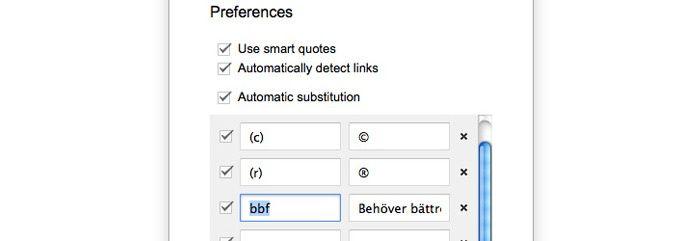 Google Docs upprepande meningar