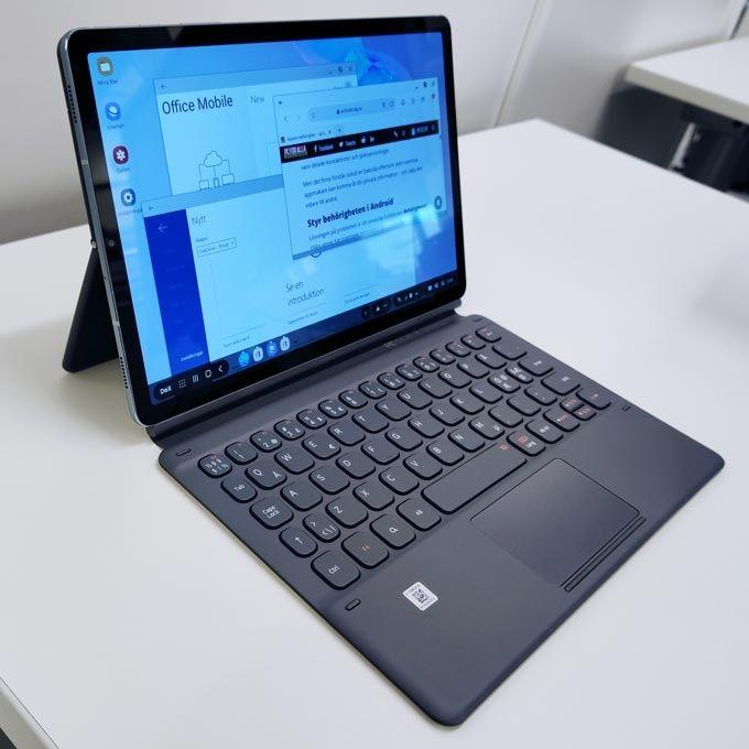 Galaxy Tab S6 med tangentbord