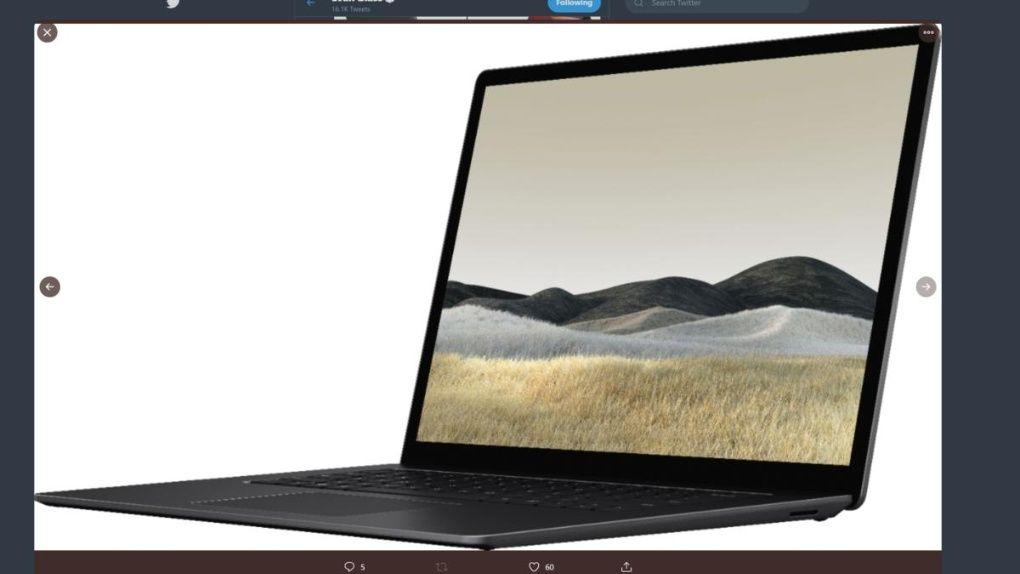 Surface Laptop 3-läcka