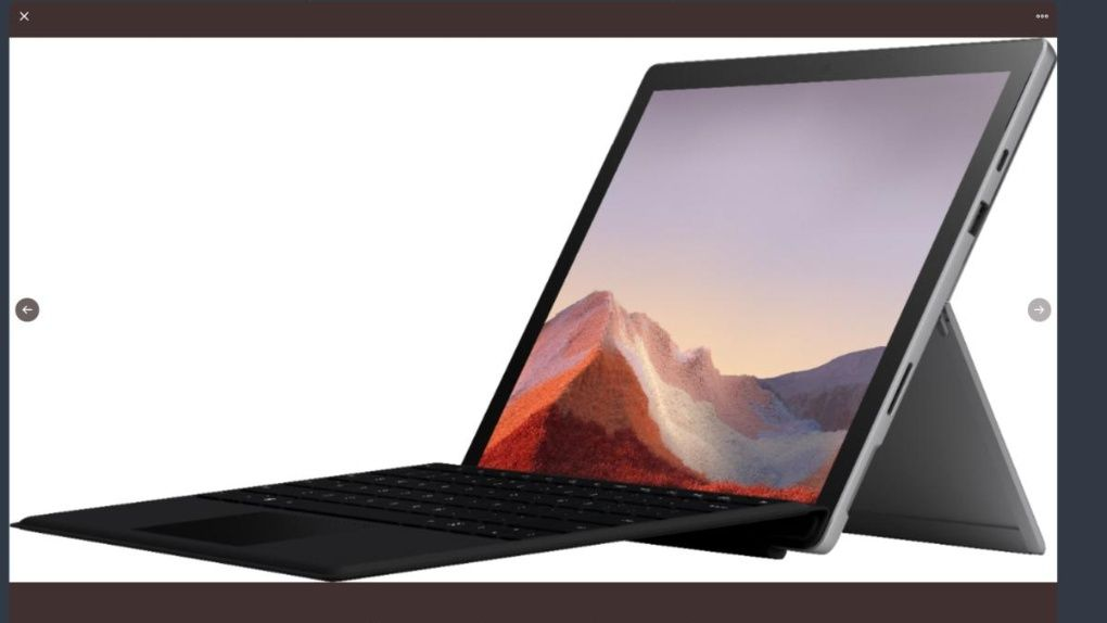 Surface Pro 7-läcka