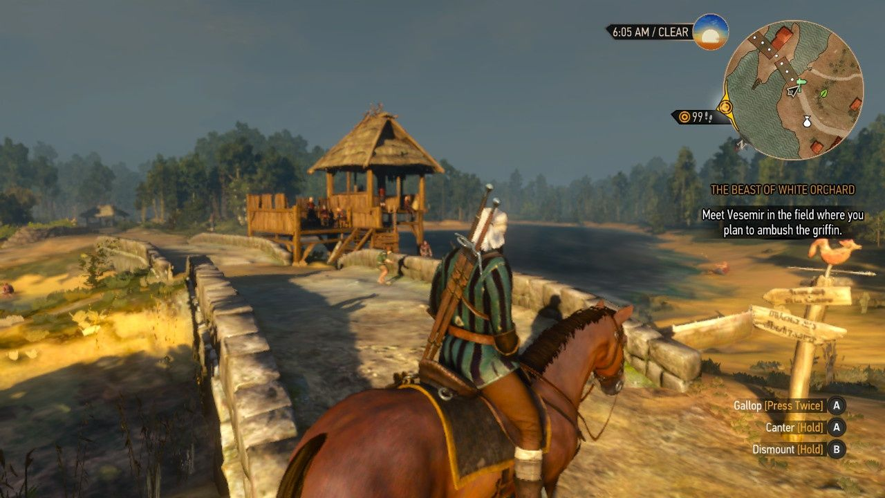 Geralt outside town