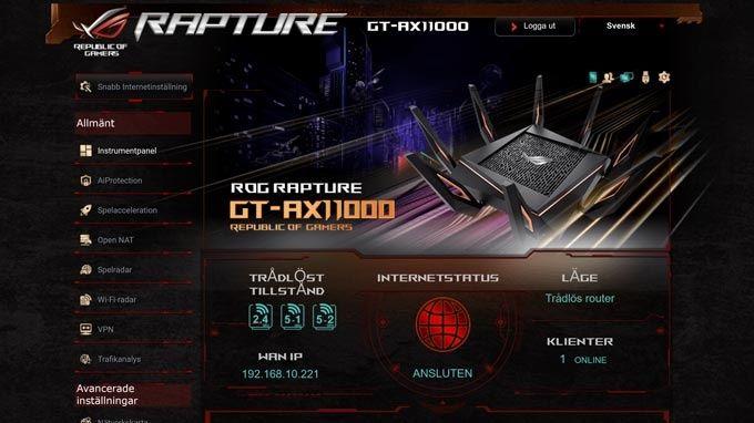 Asus ROG Rapture GT-AX11000 webb
