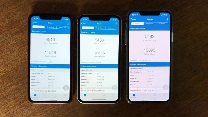 Iphone 11 mot Iphone XR
