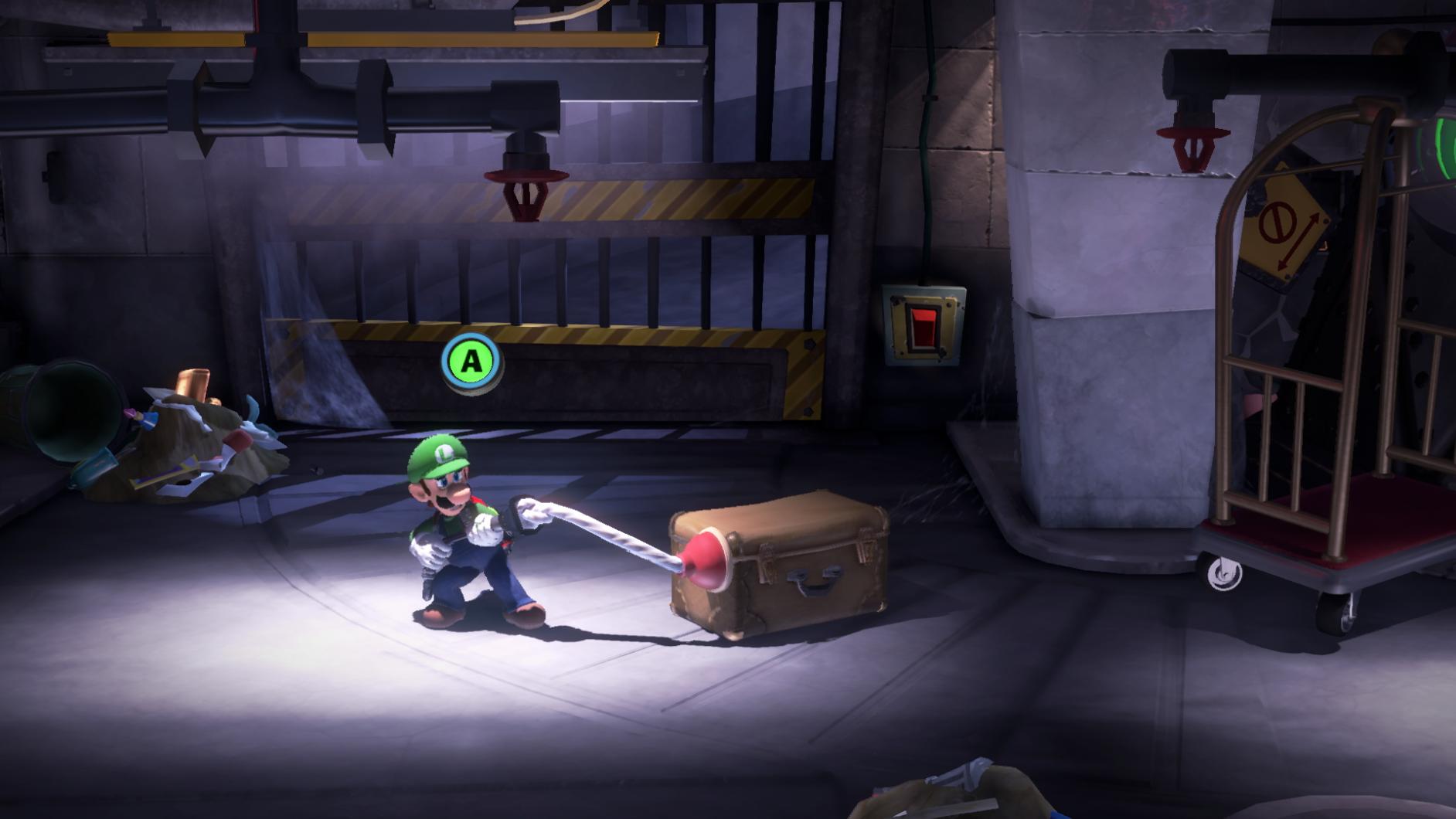 Luigi grepar tag i låda