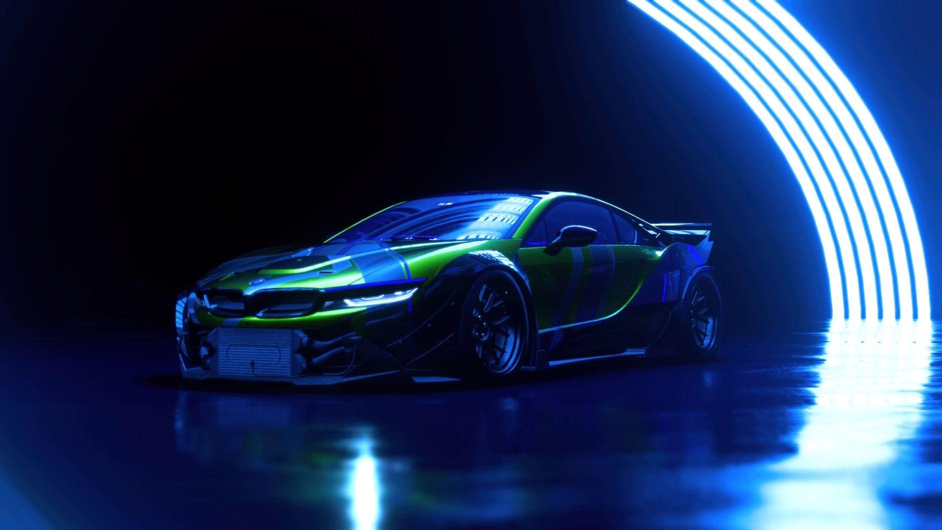 Need for Speed Heat bil i neon