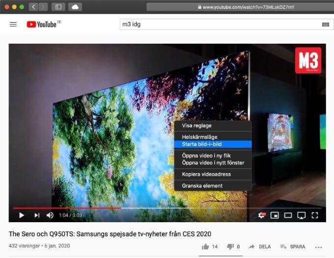 Bild-i-bild i Youtube Mac