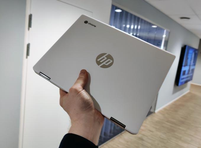 HP Chromebook X360 12b ihopfälld