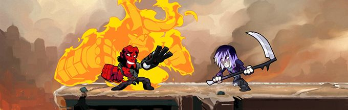 Brawlhalla Hellboy vs some guy