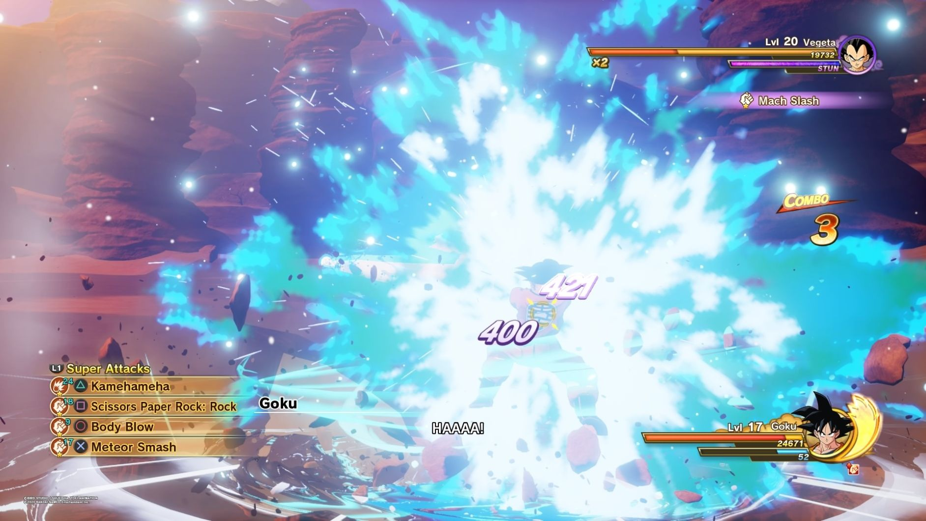 DBZ Kakarot fight