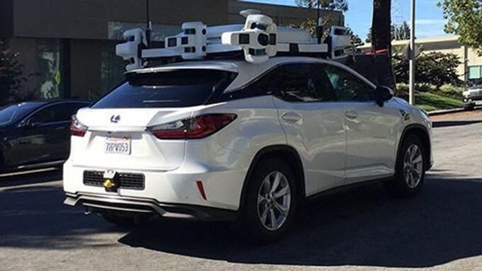 Apple test car