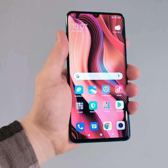 Xiaomi Mi Note 10 Pro skärm