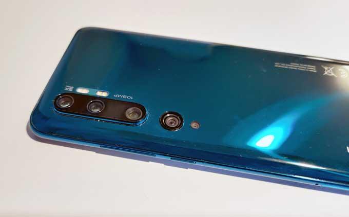 Xiaomi Mi Note 10 Pro baksida