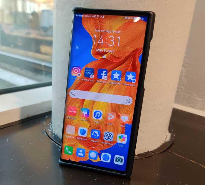 Huawei Mate Xs startsida