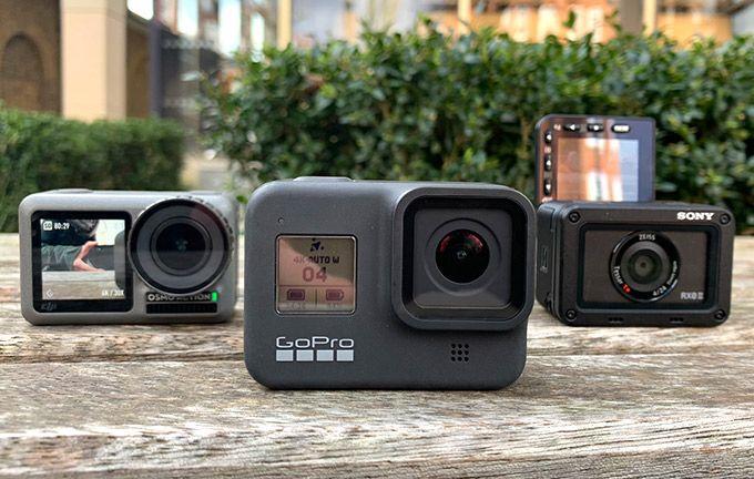 Tre väldigt olika actionkameror