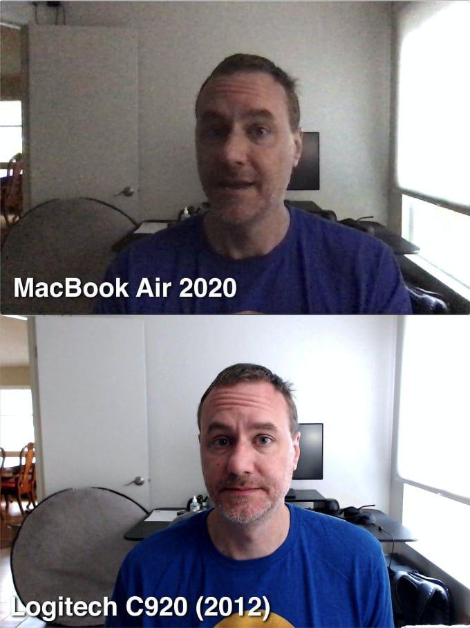 Webbkamera test Macbook Air