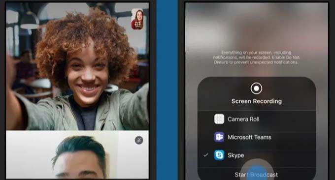 Skype videosamtal