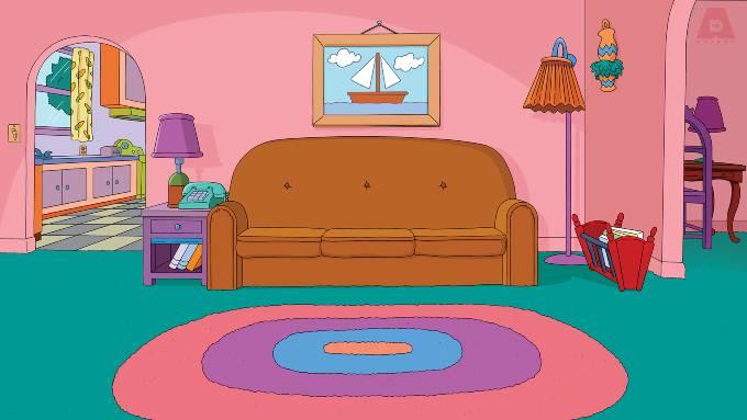 Simpsons-soffan Zoom