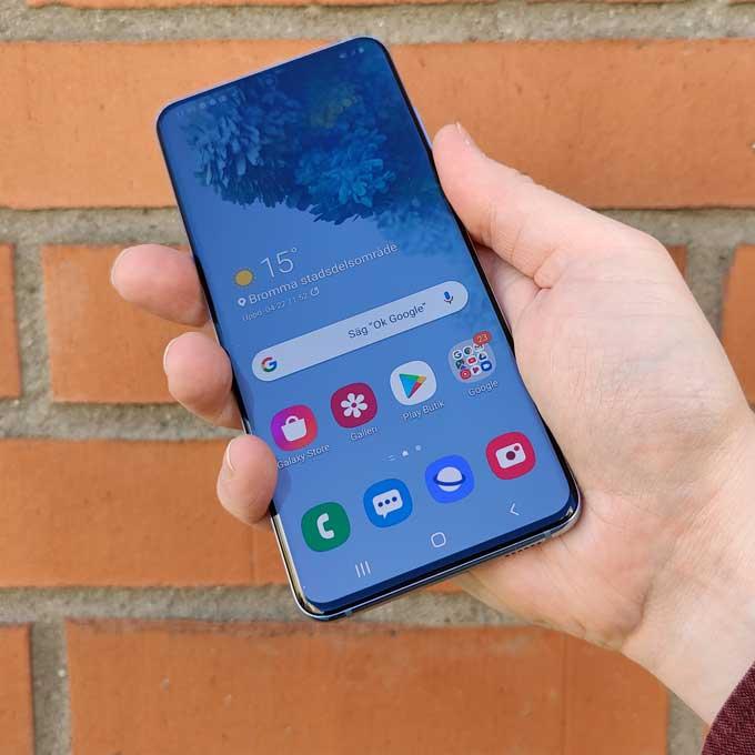 Samsung Galaxy S20 nederkant