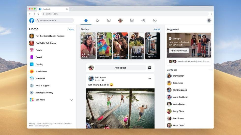 Nu rullas Facebooks nya utseende för webben ut – så testar