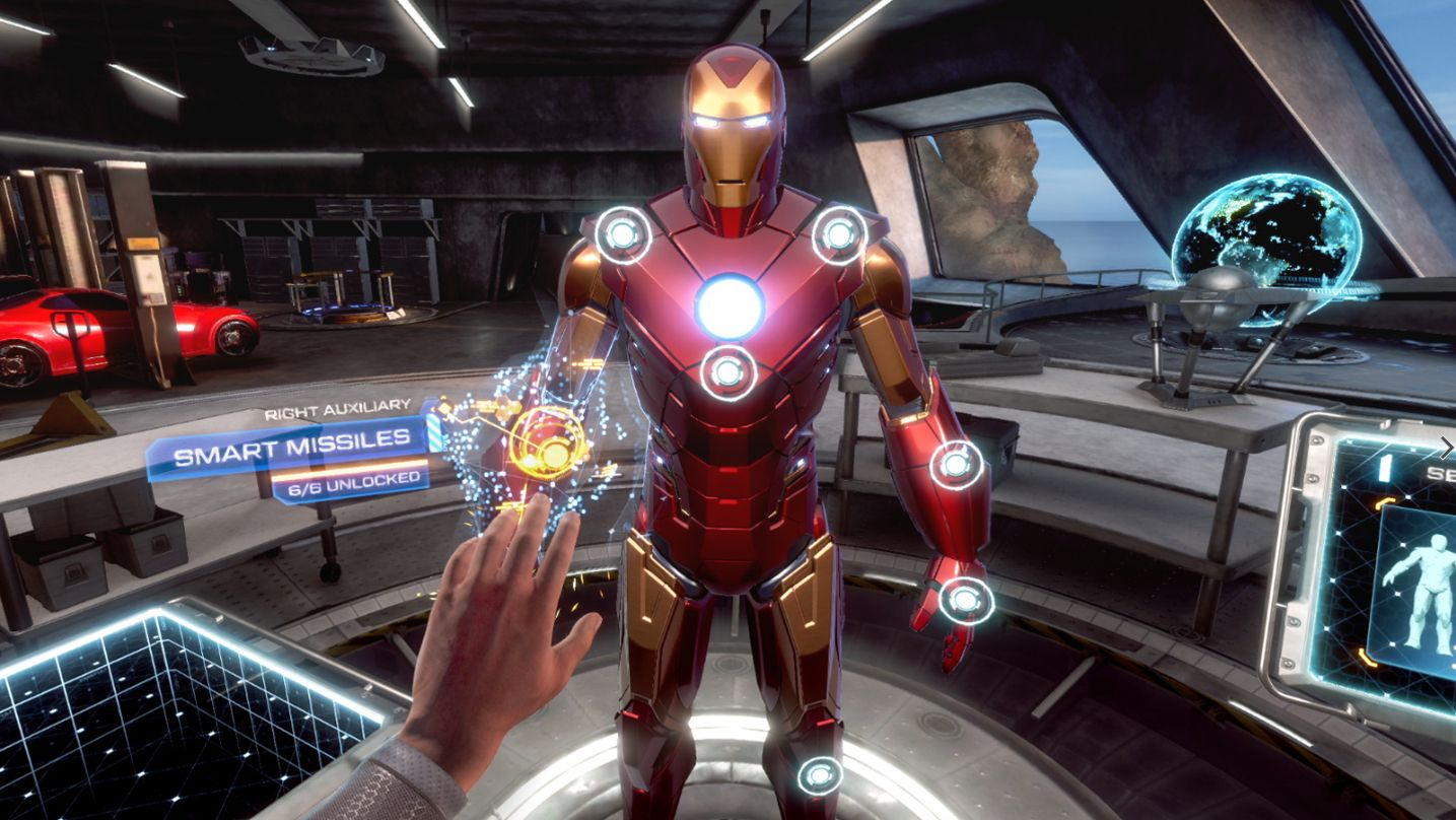 Iron Man uppgradera dräkt