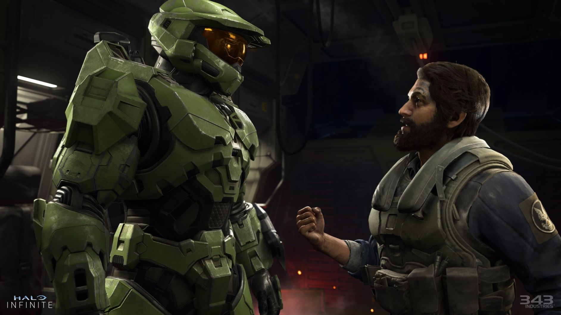 Master Chief and pilot arguing