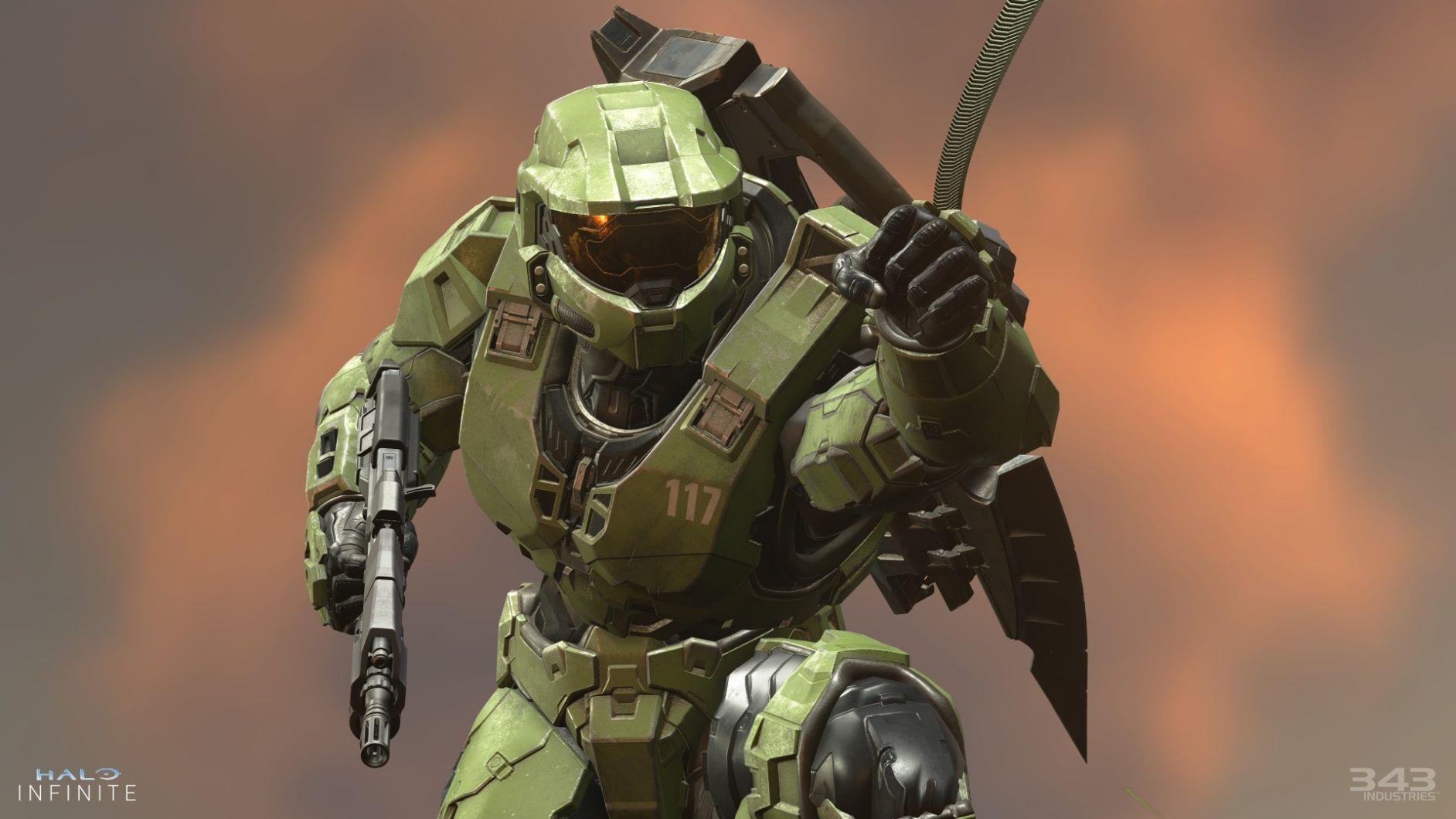 Master Chief in Halo Infinite Xbox Series X