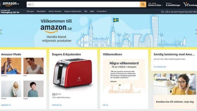 Amazon Kommer Till Sverige Sa Har Ser Sajten Ut Computer Sweden