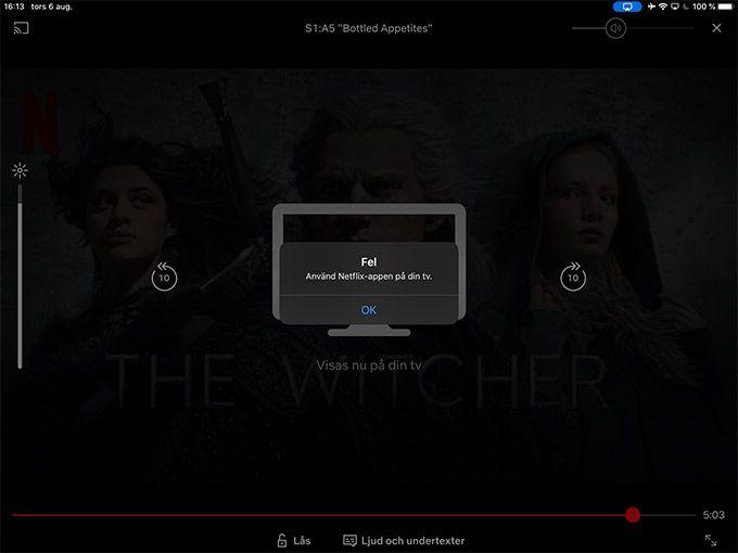 Netflix Airplay
