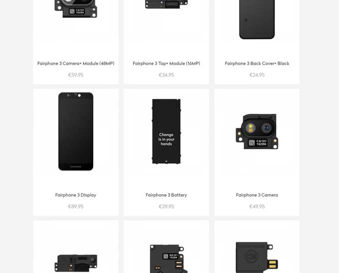 Fairphone-komponenter