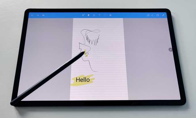 Galaxy Tab S7 Plus S-pen