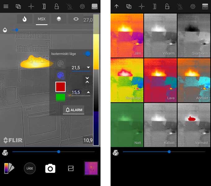 Cat S62 Pro flir app värme