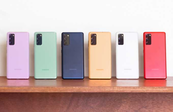 Samsung Galaxy S20 FE färgval