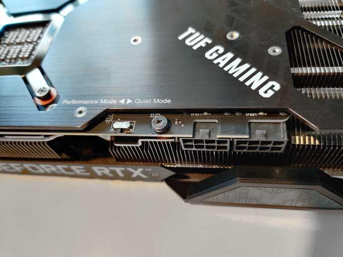 Asus GeForce RTX 3080 TUF Gaming OC kontakter