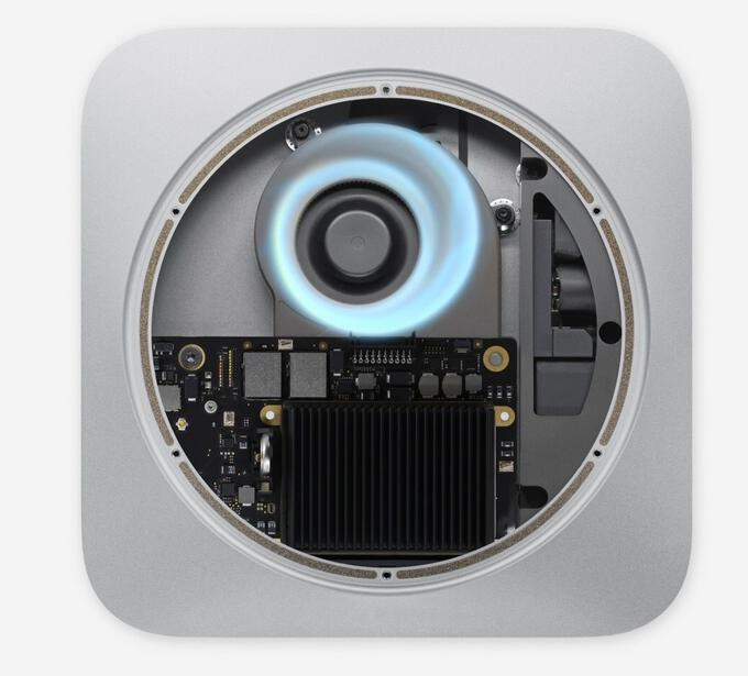 Mac Mini on the inside