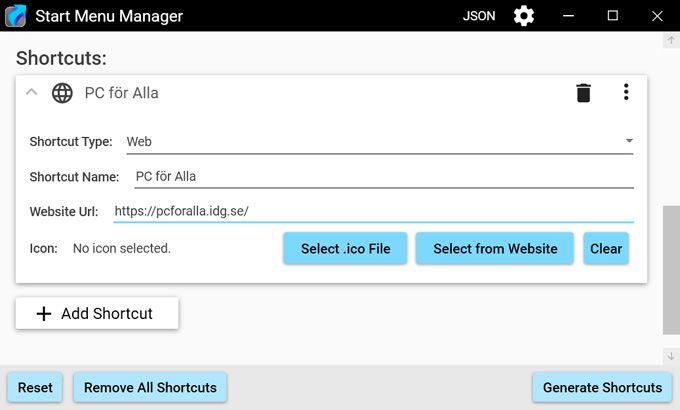 Start Menu Manager