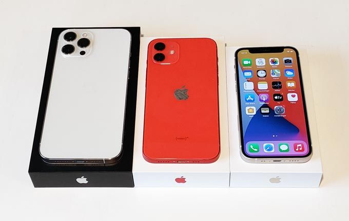 Iphone 12 Mini, Iphong 12 och Iphone 12 Max Pro