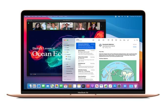 Apple Macbook Air M1 OC 8C