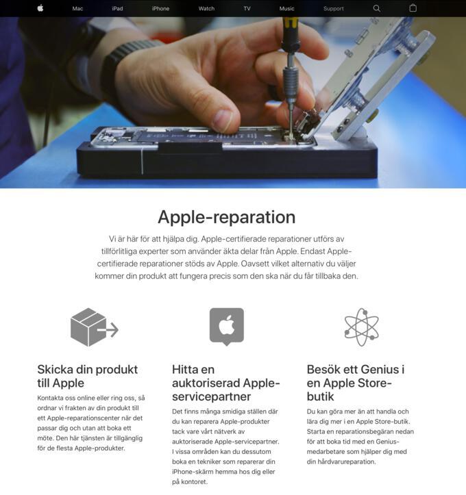 Apple-reparation