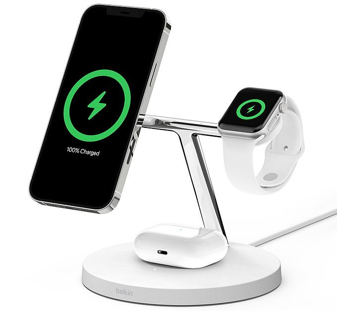 Belkin Boost Charge Pro 3-in-1 Wireless Charger with MagSafe
