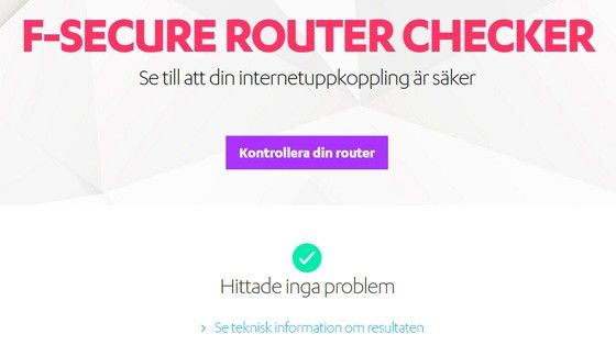 Här är tjänsten som visar om din router är kapad
