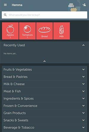 bästa shoppinglista app